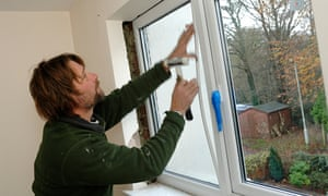 Installing double glazing windows in a house