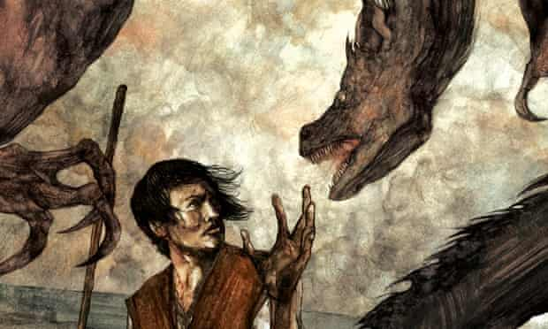 An illustration by David Lupton for A Wizard of Earthsea