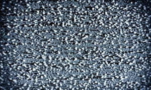 Analog television with white noise