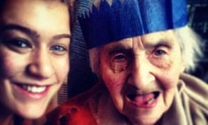 Edith and Hannah on Christmas Day 2013