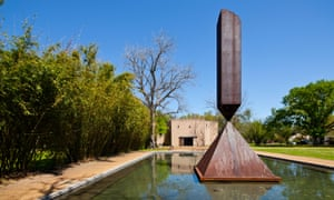 'Abrupt end':  Broken Obelisk in the Rothko Chapel, Houston.