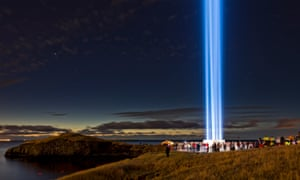 'Visionary': Yoko Ono's Imagine Peace Tower in Reykjavik.