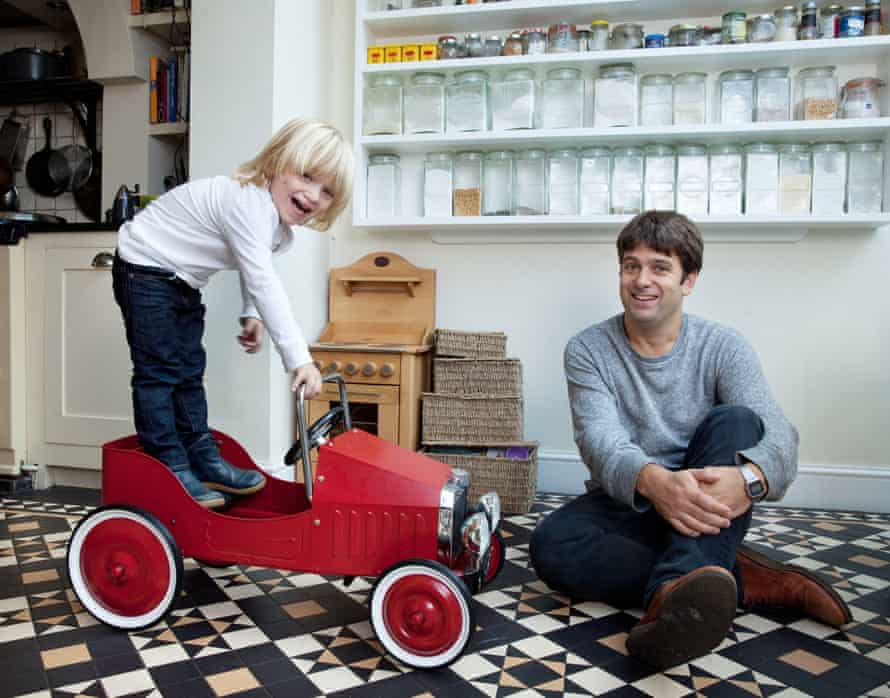 William Skidelsky and his son Hugo at their home in south London.