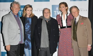 Sir Ian McKellen, Emily Watson, Sir Ronald Harwood, Vanessa Kirby and Edward Fox at the BFI screening of the BBC's The Dresser