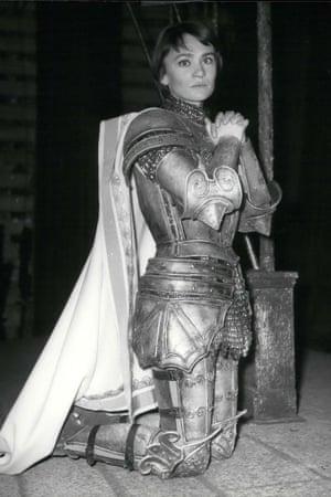 Danièle Delorme starring as Joan of Arc in George Bernard Shaw's play Saint Joan, at the Théâtre Montparnasse-Gaston Baty