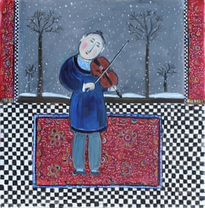 Nigel in Winter, 2013, one of Dora Holzhandler's four portraits of Nigel Kennedy, a celebrated exponent of Vivaldi's The Four Seasons