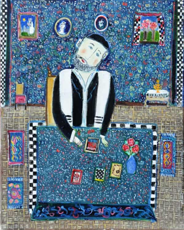 Rabbi Studying, 1993, by Dora Holzhandler