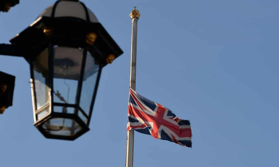 The flag at Buckingham Palace, London, flies at half mast as a mark of respect for King Abdullah of Saudi Arabia in January.