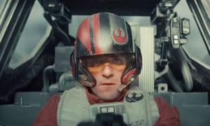 Oscar Isaac as X-Wing pilot Poe Dameron in Star Wars: The Force Awakens