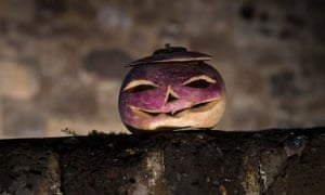 A carved turnip at Dover Castle in Kent