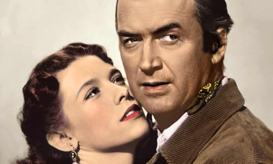 Cathy O'Donnell and James Stewart in The Man from Laramie.