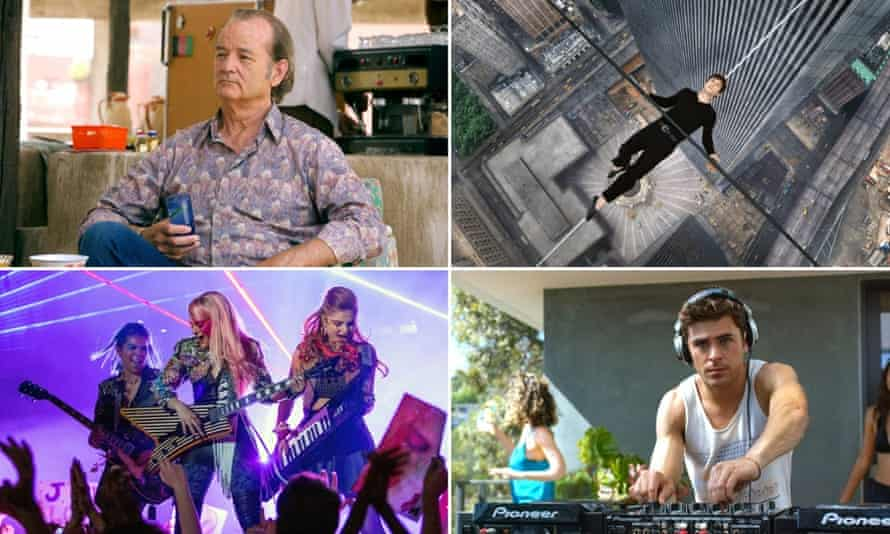 Top of the flops ... Rock the Kasbah, The Walk, We Are Your Friends and Jem and the Hologrms (from clockwise) have all repelled audiences this year.
