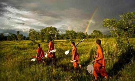 Monks in Cambodia