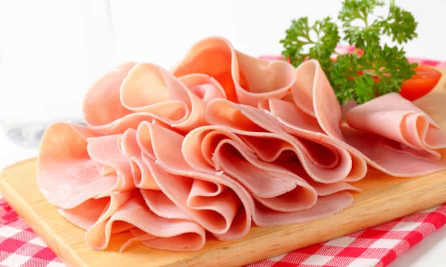 Ham on a chopping board