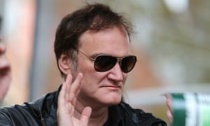 In the crosshairs ... Quentin Tarantino at this weekend's protest.