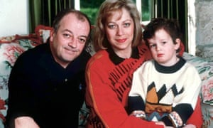 A young Matt Healy with his parents Tim Healy and Denise Welch at home in 1997