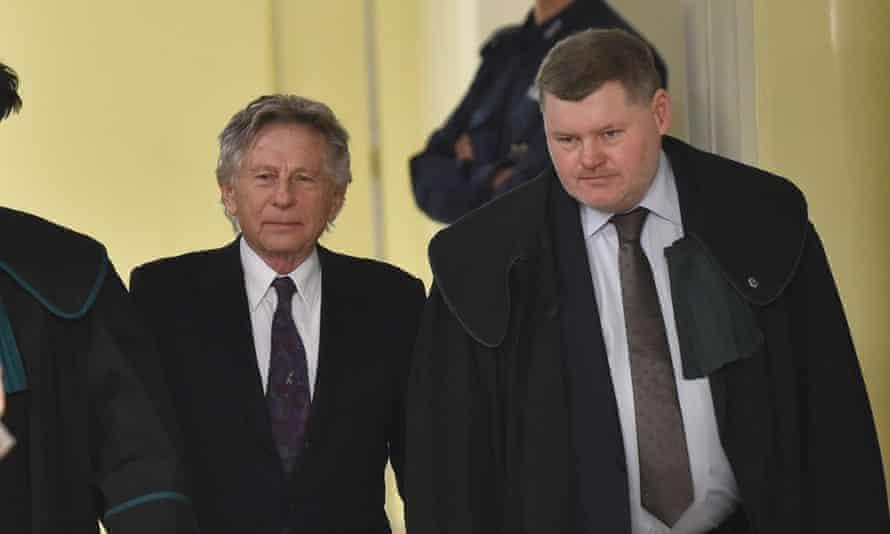 Polish film director Roman Polanski, left, at court in Krakow in February 2015.