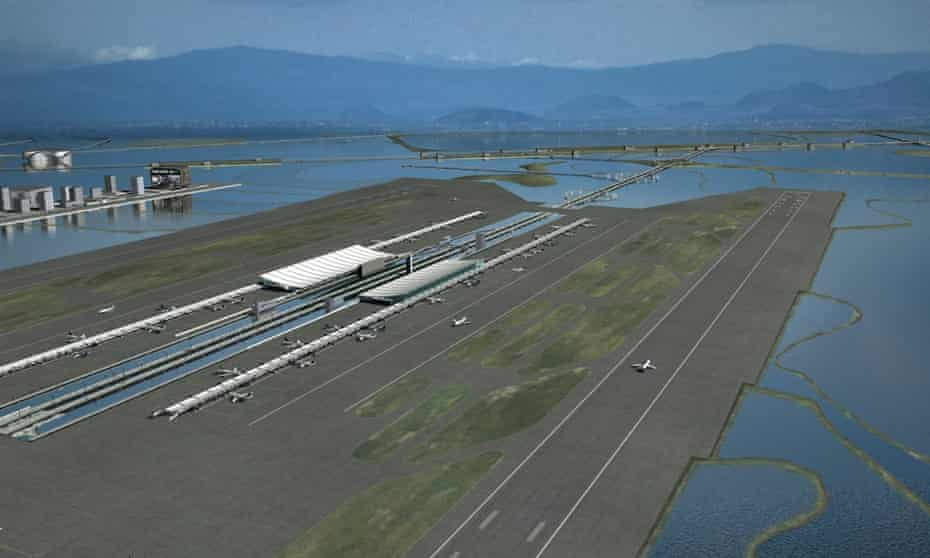 Alberto Kalach's vision for a new airport on the lake.