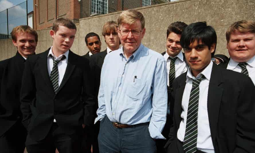 On the set of The History Boys, which was filmed in 2006.