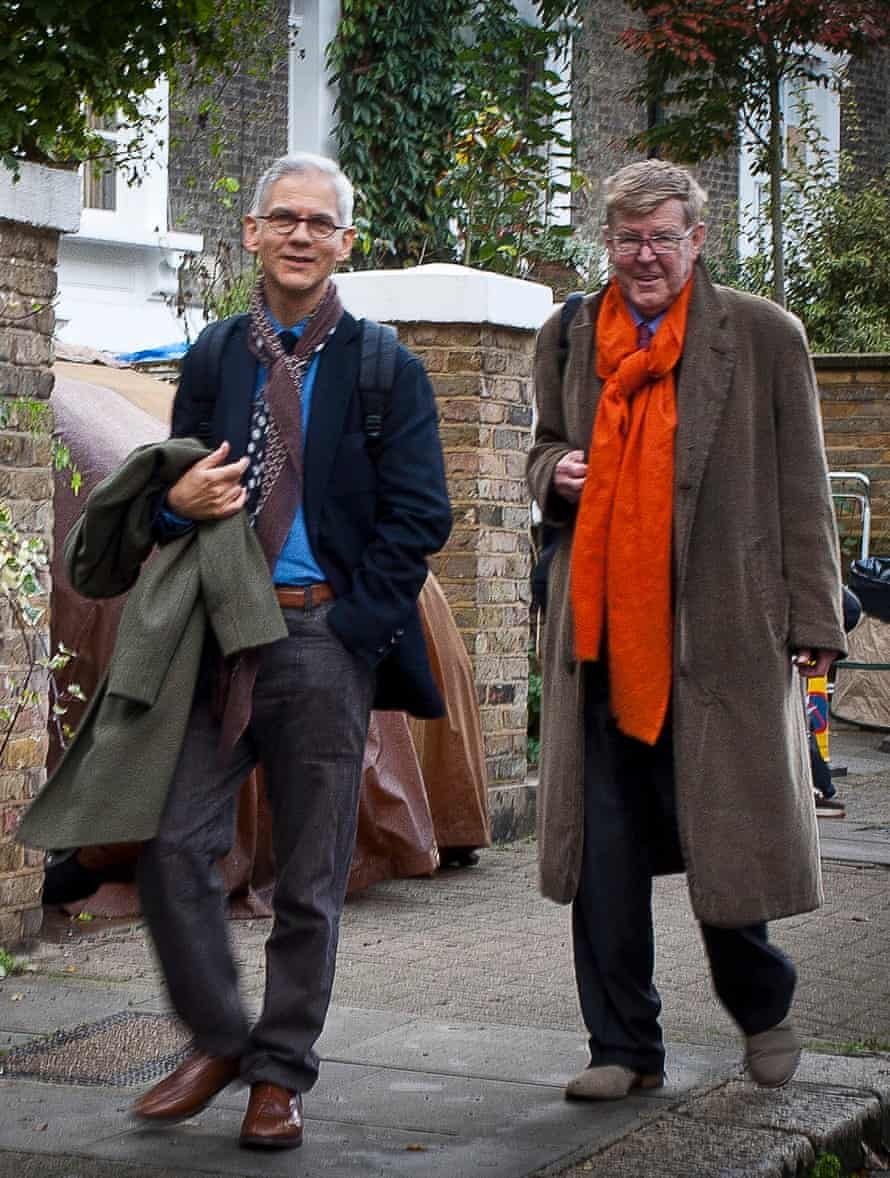 Alan Bennett with his partner of 23 years, Rupert Thomas