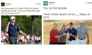 Totesport and Bet365 ads: banned over images of Jordan Spieth