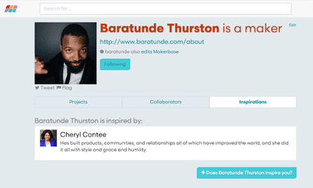 Producer and comedian Baratunde Thurston says he's inspired by Cheryl Contee, co-founder of a startup that helps charities use technology