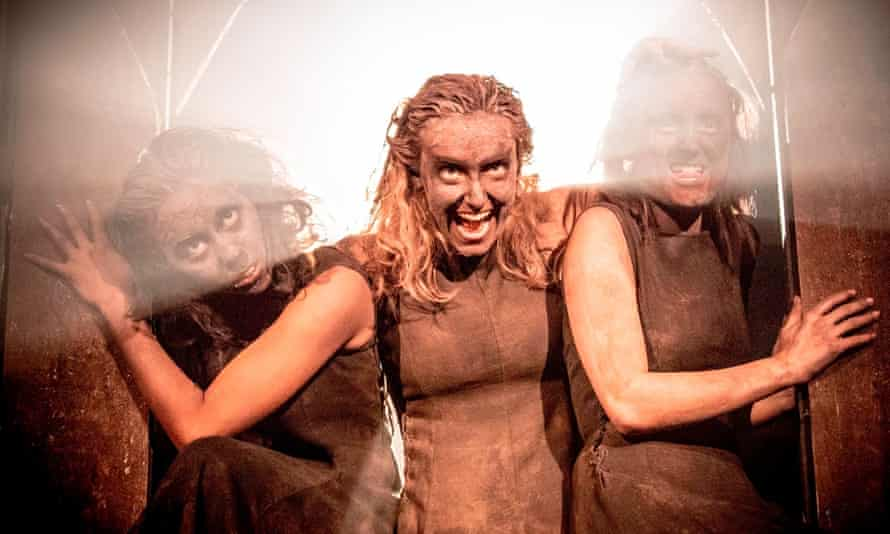 Macbeth's three witches – played by Anjana Vasan, Charlie Cameron and Laura Elsworthy – in the 2013 Manchester international festival production.