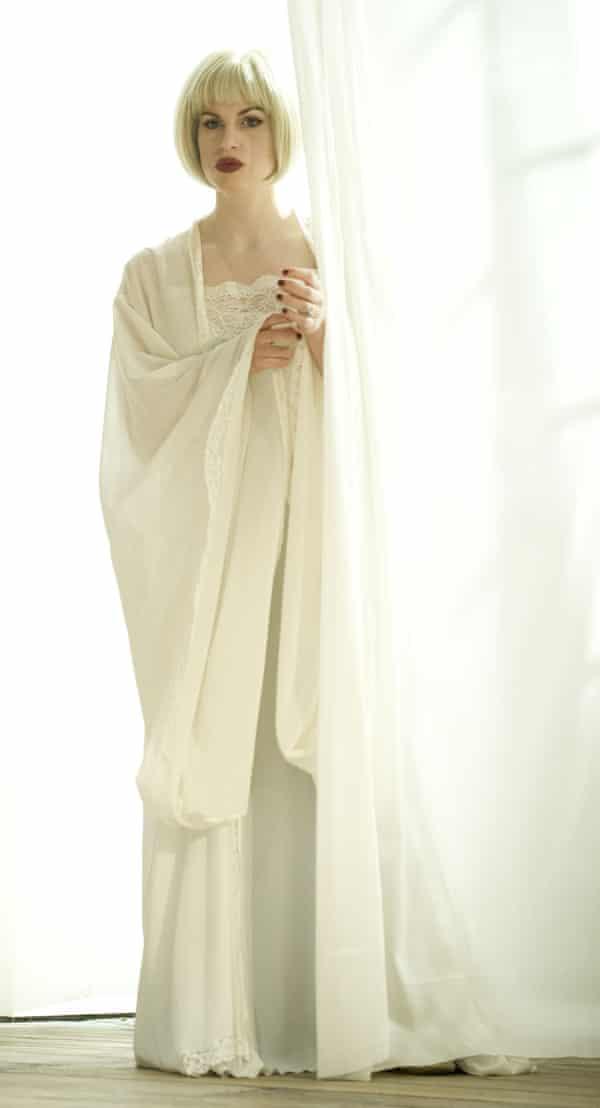Jemima Rooper as Cassandra in Blithe Spirit at the Gielgud theatre, London, 2014.