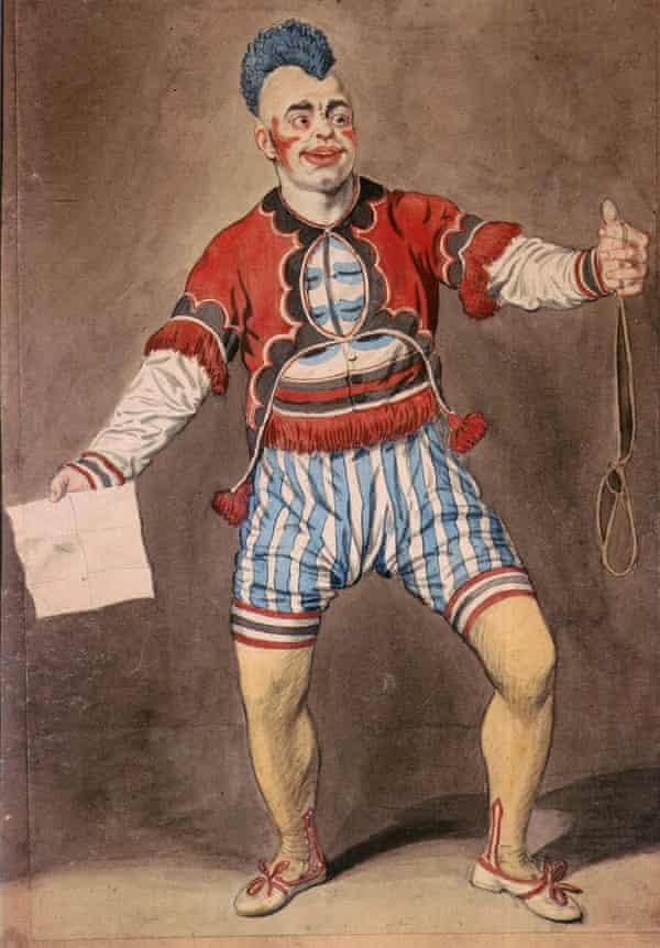 Joseph Grimaldi the clown in the pantomime Mother Goose, c.1807