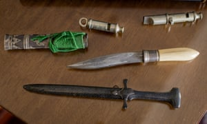 Daggers and whistles, the arsenal of period weapons Cornwell assembled to research Jack the Ripper.
