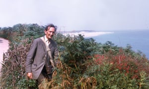 Norman Moore on the coast path of Herm, in the Channel islands, in 1971