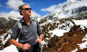 Sir Ranulph Fiennes in a trek up Mount Everest in 2008