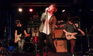 Girls are loud: (from left) Alan Duggan, Adam Faulkner, Dara Kiely, Daniel Fox.