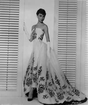 Audrey Hepburn wearing Givenchy in the film Sabrina, 1954.