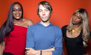 Tangerine dreams come true: Mya Taylor (left) with director Sean Baker and co-star Kitana Kiki Rodriguez.