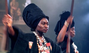 Funmi Adewole as Yaa Asantewaa at the West Yorkshire Playhouse, 2001.