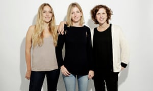 Close knit: (from left) Wool and the Gang's co-founders Jade Harwood, Aurelie Popper and Lisa Rodwell.