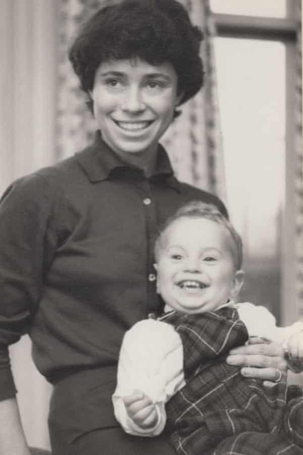 Hannah with older son Simon.