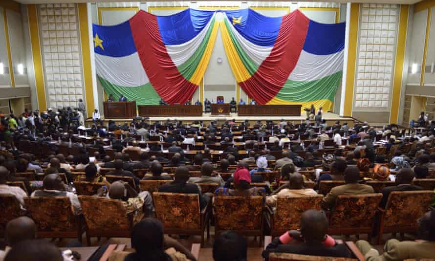 A session of the National Transitional Council of the Central African Republic.