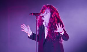 Lorde performing live