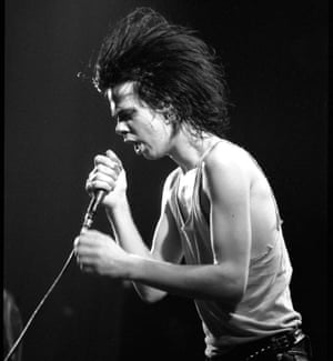 High volume …Nick Cave of the Birthday Party in 1981.