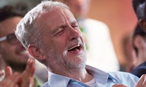 Jeremy Corbyn laughing