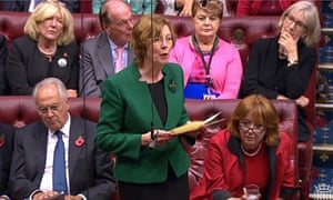 Patricia Hollis addresses the House of Lords