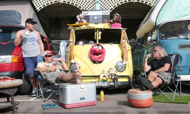 Volkswagen enthusiasts enjoy the sunshine at the annual Brighton Breeze rally weekend. Photograph: David McHugh
