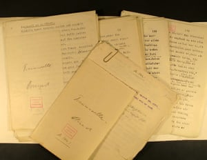 Arthur Schnitzler's draft of Traumnovelle (which became Eyes Wide Shut). The Austrian author's papers have been officially signed over into the care of Cambridge University Library.