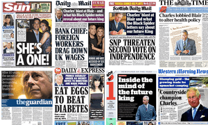 A selection of recent front pages that resulted from freedom of information requests