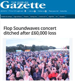 Shields Gazette: 'Flop Soundwaves concert ditched after £60,000 loss'