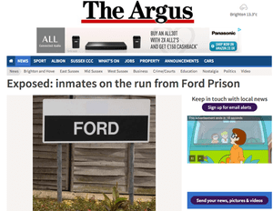 The Argus: 'Exposed: inmates on the run from Ford Prison'