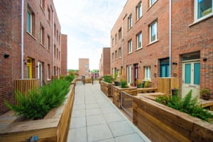 'Windows overlook each other at closer range than planners usually like, although this does not seem to have deterred the buyers.'