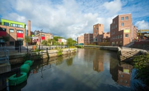The Malings, to the right, is opposite the Toffee Factory, another Igloo project. Both are just next to the Ouseburn barrage which regulates the tidal flow.